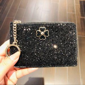 Kate Spade Odette Black Glitter Cardholder